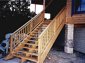 Наружные деревянные лестницы, фото 2