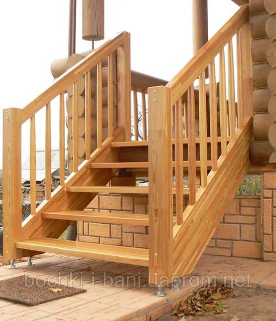 Наружные деревянные лестницы