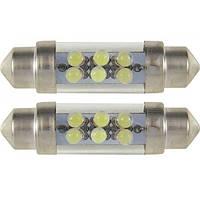 Светодиодная лампа 2946 SV8.5 10x42 6xLED WHITE (белая) 2 шт. BOSMA