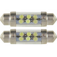 Светодиодная лампа 2946 SV8.5 10x42 6xLED WHITE (белая) 2 шт. BOSMA, фото 1