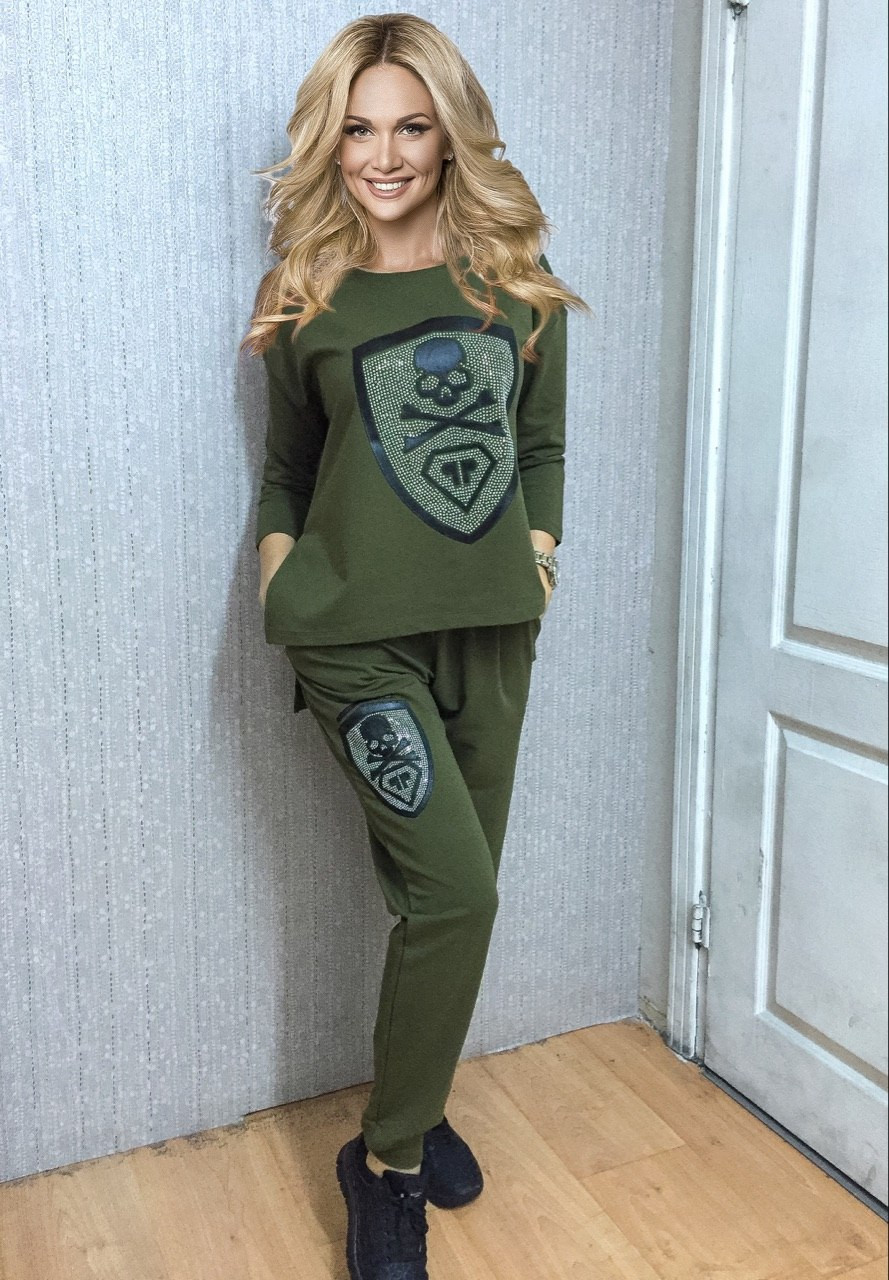 Женский спортивный костюм хаки с доставкой