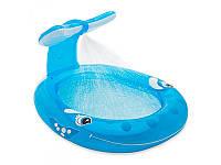 Детский надувной бассейн Кит с душем 57435 Intex