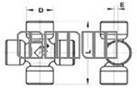 Крестовина карданного вала 35X96,5A со смещенным центром