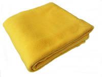 Набор (чехол+плед) флис Желтый