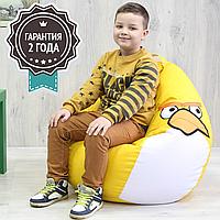"""Детское кресло мешок """"Птичка""""  L 90x60 см желтая, фото 1"""