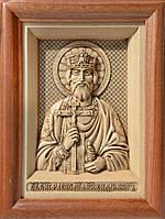 Икона деревянная резная Святого Князя Владимира, фото 1
