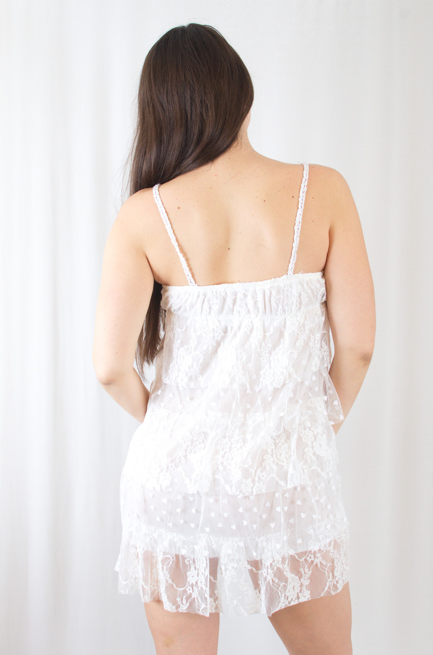 06907fa5093 Летний красивый короткий белый кружевной сарафан