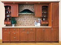 Кухня Барбара 2м со столешницей яблоня лак   Мебель-Сервис