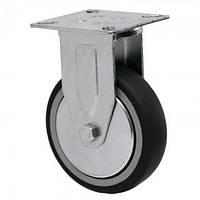 Аппаратные колеса на резиновом ходу неповоротные Light с крепеж. панелью Ø 50,75,100,125м