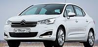 Дефлектор на капот (мухобойки) CITROEN C4 (sedan) 2012