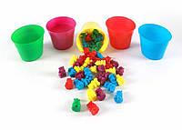 Набор мишек для сортировки и 5 стаканов Counting Bears with 5 Cups