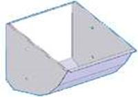 Кормушка нерж. 18 л / с комплектом крепления к станкам опороса: мод. 25