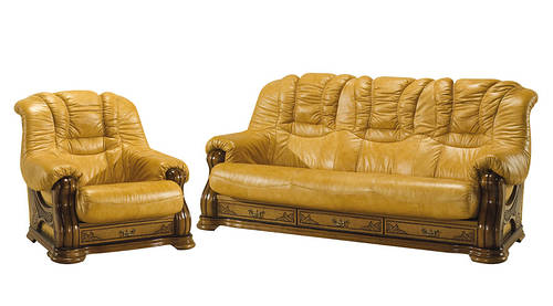 """Новый кожаный диван с креслом """"CHEVERNY"""" (3р+1)"""