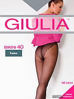Колготки женские GIULIA BIKINI 40den  с ажурными  трусиками, плоским швом и ластовицей из хлопка