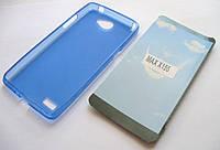 Чехол силиконовый LG Max X155 синий