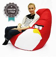 """Кресло-Груша """"Птичка"""" XL 110x85 см красная"""