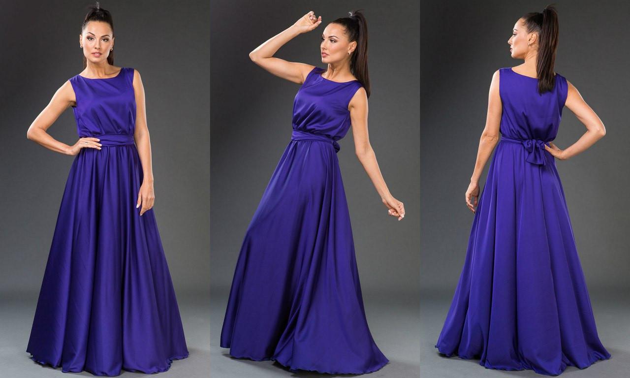 1ba01f9d6b1 Роскошное вечернее платье из шелк-атласа. Цвета!  продажа