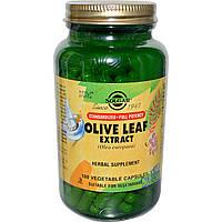 Экстракт листьев оливы, Olive Leaf, Solgar, 180 капсул