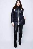 Женская  демисезонная куртка с контрастной отделкой Большие размеры