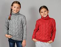 Детские вязанные кофты для девочек