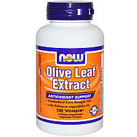 Экстракт листьев оливы, Olive Leaf, Now Foods, 100 капсул