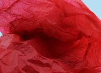 Тишью декоративная бумага, красная  1 лист (50*70 см)