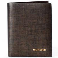 Мужской кошелек кожаный Mantador коричневый