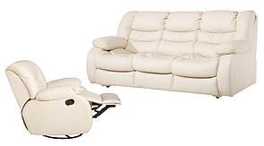 """Кожаная мебель с реклайнером """"REGAN"""" (3+1), фото 2"""