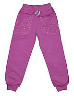 Детские трикотажные брюки для девочек оптом. размеры 5-6-7-8 лет