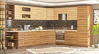 Мебель-Сервис Анюта кухня 2м со столешницей вишня малага + орех грецкий