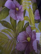 """Тюль печать """"Фиолетовый цветок"""", фото 3"""