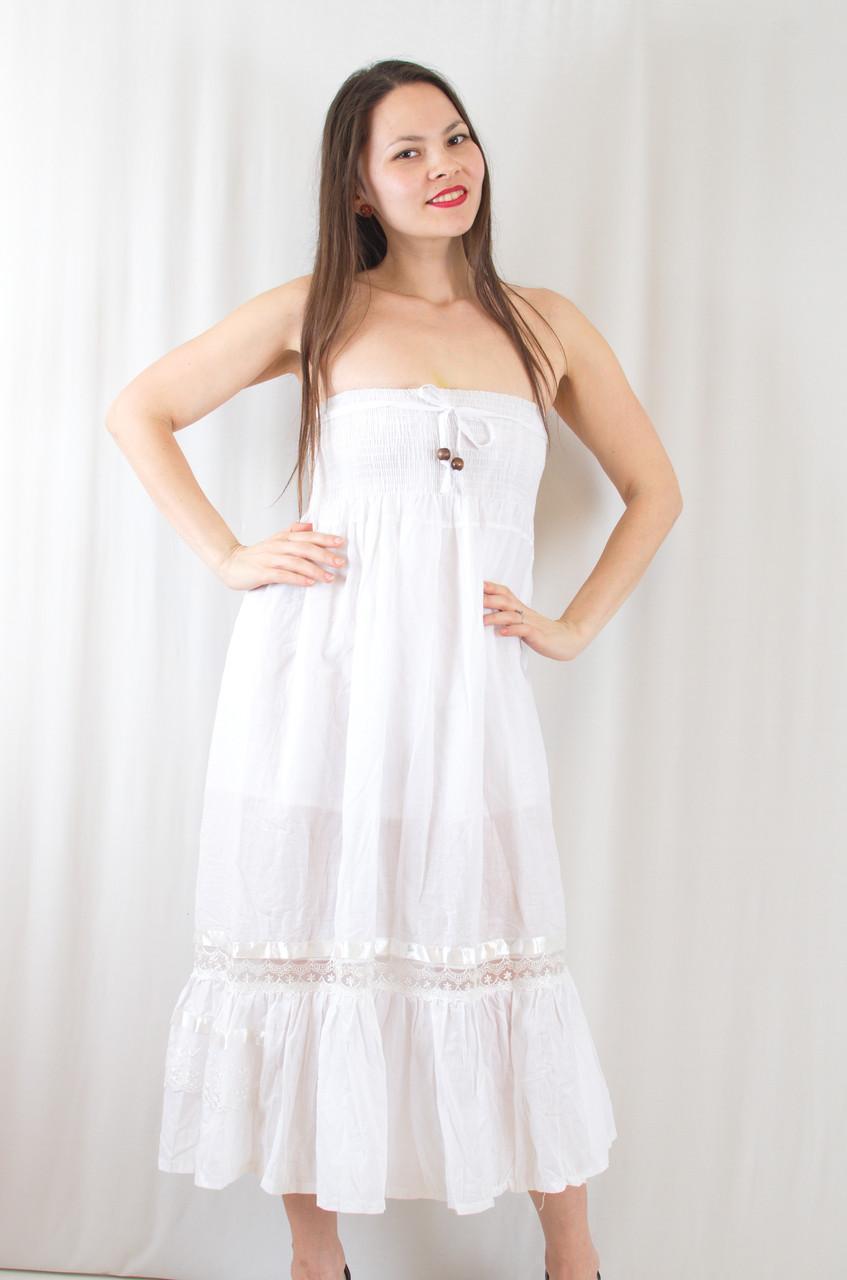 04e4472050e Летний красивый романтичный сарафан-юбка с кружевными вставками - Exclusive  в Хмельницком