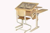 Детская парта трансформер ДЕМИ СУТ 14-12 +стул Деми СУТ 02  из массива дерева. Гарантия 3 года.