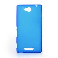 Чехол накладка силиконовый TPU Soft для Lenovo A6000 A6010 синий