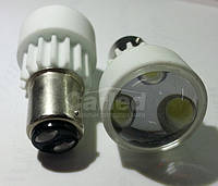 Светодиодная автолампа 1157 - P21/5W - BAY15d, 3PCS 3W WHITE(200Lm) ceramic lamp двухконтактная