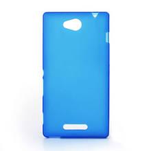 Чехол накладка силиконовый TPU Soft для LG Magna Y90 H502 синий