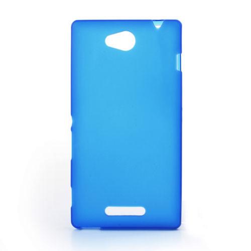 Чехол накладка силиконовый TPU Soft для LG X Cam K580 синий