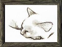 Набор для вышивания крестом Crystal Art Спящий котик