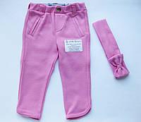 Детские джеггинсы для девочки с повязкой, рост 62