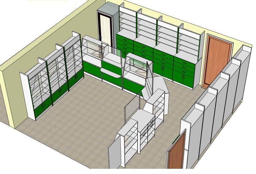 Мебель для Аптек Ника Доктор 27 — купить за 12335 грн в Киеве ... | 566x831