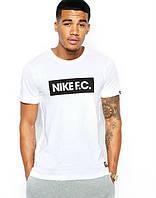 Брендовая футболка Nike, мужская, найк, белая трикотаж ф394