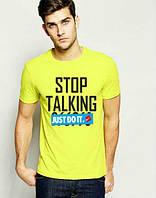 Брендовая футболка Nike, желтая, мужская футболка найк, отличного качества, ф442