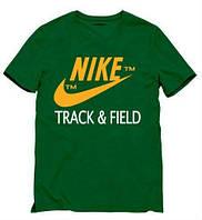Брендовая футболка Nike, футболка мужская найк, зелёная, размеры в наличии, ф445