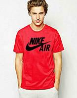 Брендовая футболка Nike, красная, мужская футболка найк, все размеры, ф450