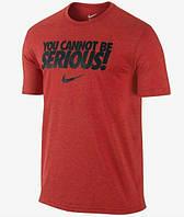 Брендовая футболка Nike, футболка красная найк, унисекс, все размеры, ф446