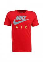 Брендовая футболка Nike, оранжевая, стильная, молодежная, мужская/женская, ф448