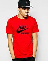 Брендовая футболка Nike, оранжевая, мужская футболка найк, отичного качества, ф459