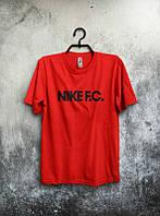 Брендовая футболка Nike, мужская найк, оранжевая, отличного качества, трикотаж, ф463