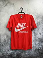 Брендовая футболка Nike, мужская футболка найк, отличного качества, оранжевая, ф462