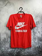Брендовая футболка Nike, футболка мужская найк, все размеры, с белым принтом, ф466